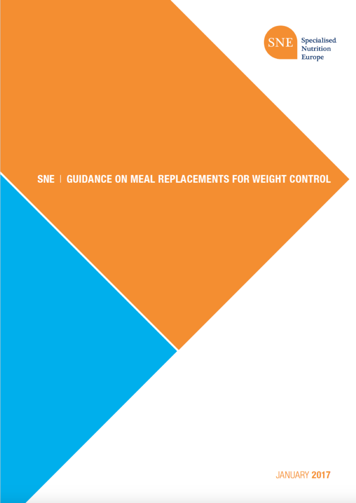 SNE Guidance on Meal Replacements for Weight Control
