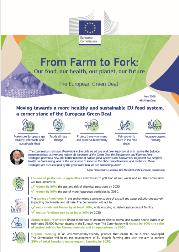 SNE welcomes the publication today of the European Commission Farm to Fork strategy